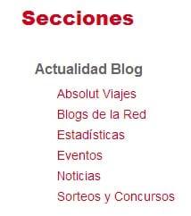 Categorías Actualidad Blog