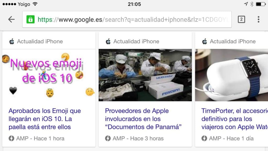 Integramos AMP (Accelerated Mobile Pages) en la red